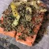 Gravlax de saumon au rhum & thé fumé