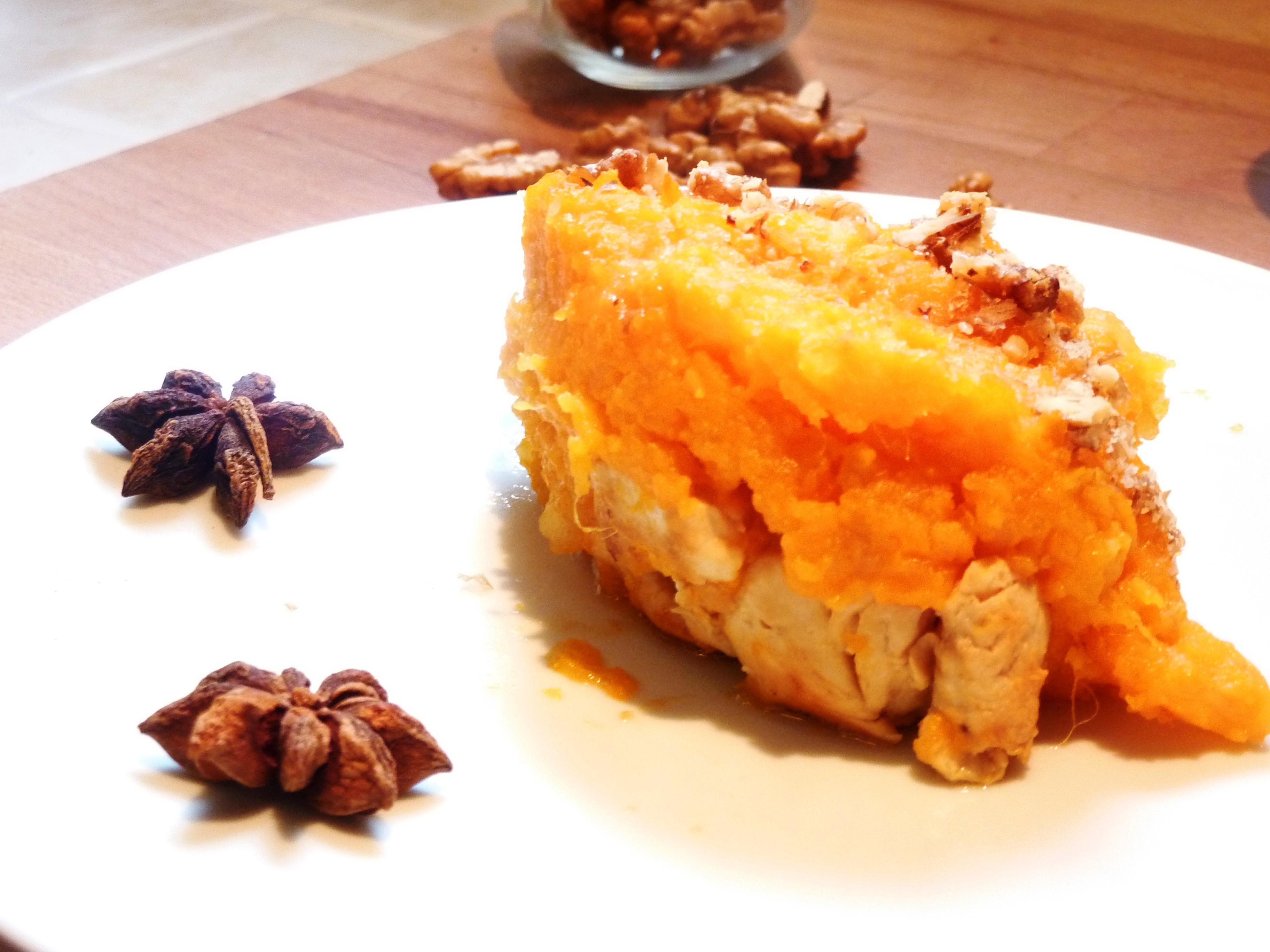 Parmentier anis la patate douce et au poulet blogs de cuisine - Recette poulet patate douce ...