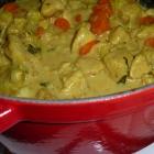 Blanquette de poulet au curry
