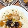Tajine de poulet aux abricots, pruneaux et amandes grillées