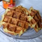 Gaufres de pommes de terre et émulsion de poivrons au foie gras & miel {sponso}